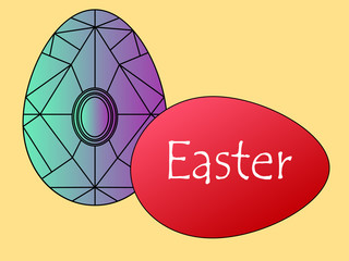 Two Easter eggs for a happy holiday