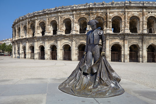 Arles, France - July 15, 2013: Roman Arena (Amphitheater) in Arl