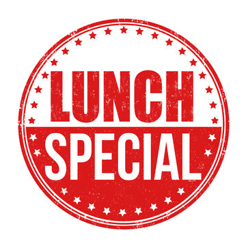 Lunch special stamp