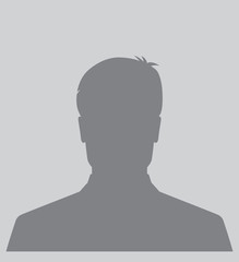 Male silhouette avatar icon, user profile picture