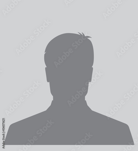 quotmale silhouette avatar icon user profile picturequot stock