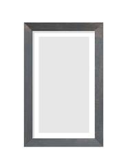 Black wooden photo frame isolated on white background