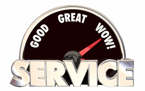 Best Service Top Rated Company Business Speedometer Words 3D