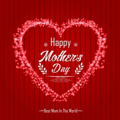 Happy Mother's Day on red background