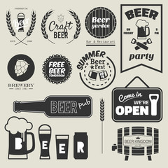 11 beer badge design collection