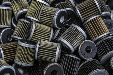 Assorted used oil filter of motorcycle / car / machine