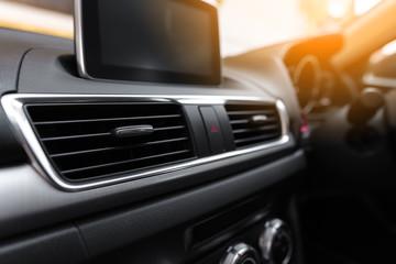 Interior of a modern car, Car Air Conditioner panel