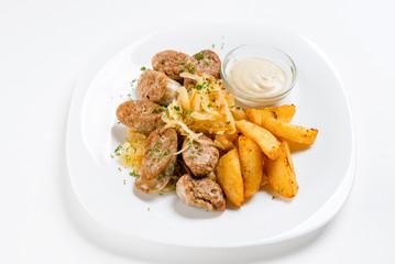 roasted potato and sausage