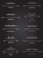 Vector set of dividers page or text.