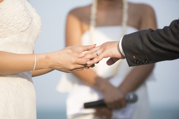 Bride Put the Wedding Ring on groom