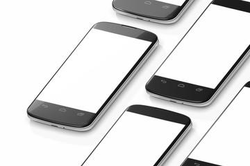 smartphones isometric rendering