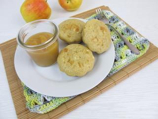 Pancakes Muffins mit Apfelmus