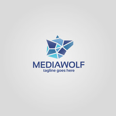 Trendy low polygon style animal logo for business visual identity - fox, bear, wolf. Modern geometric triangular style
