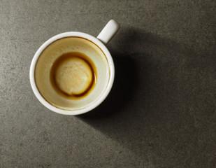 drunk espresso coffee cup