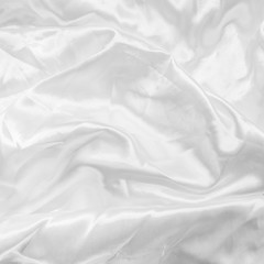 abstract texture of white satin fabric