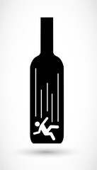 Alcoholism sign vector