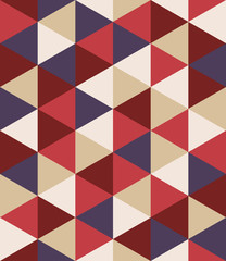 Vector modern seamless colorful geometry triangle pattern, color abstract geometric background, pillow multicolored print, retro texture, hipster fashion design