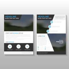 Black Elegance Vector Leaflet Brochure Flyer business proposal template design, book cover layout design, Abstract black presentation templates