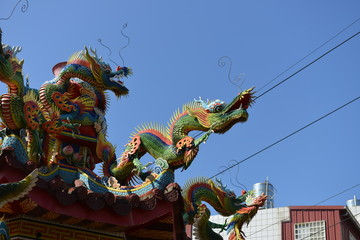 Temple carving art of Chinese culture -Dragon