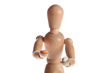 wooden doll or mannequin man from Ikea gestalta.