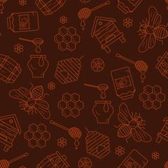 Mead seamless pattern illustration.