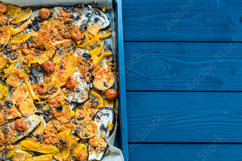 Photo: Homemade Autumn Orange Vegetable Casserole with Pumpkin and ...