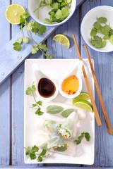healthy fresh spring roll
