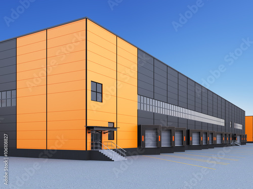 Exterior Of A Commercial Warehouse Stock Photo And Royalty Free Images On Pic