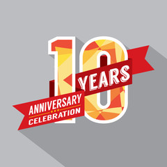 10th Years Anniversary Celebration Design.