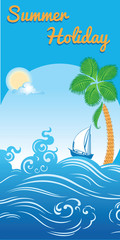 sea summer holiday travel template