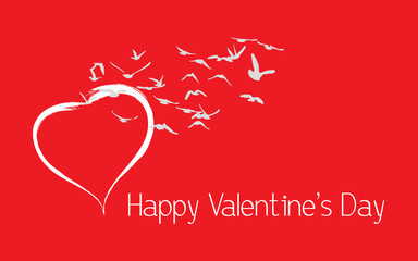 Happy Valentines Day poster, banner, card, background. Vector.