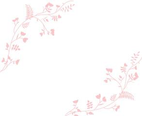 Florales Blumenmuster Rahmen Hintergrund Vektor