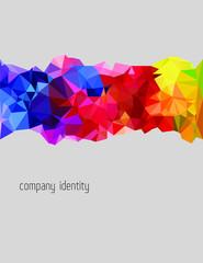 Multicolor brochure cover triangulate