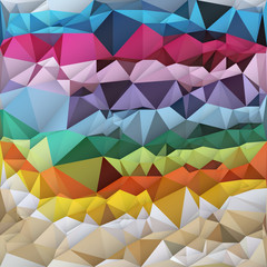 Multicolor background triangulate
