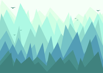 Vector sharp hills