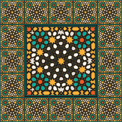 Traditional moroccan wall mosaic decoration