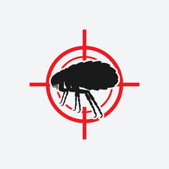 flea icon red target