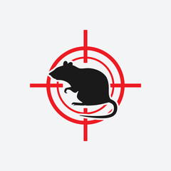 rat icon red target