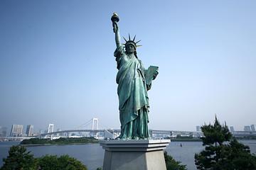 東京お台場|自由の女神像|お台場海浜公園