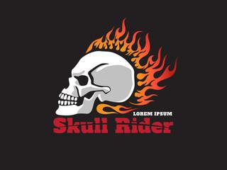 skull fire  rider logo