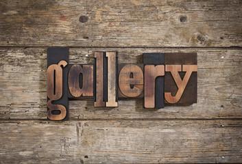 gallery written with letterpress type