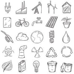 Ecology icons set.