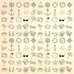 Nautical icons set.