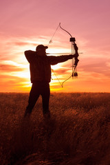 Foto op Aluminium Jacht Bowhunter at Sunset