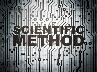 Science concept: circuit board with Scientific Method