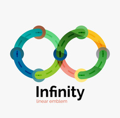 Vector infinity logo, flat colorful design