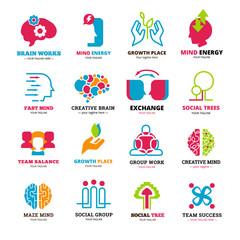 Social Relationship Logo Icons Set