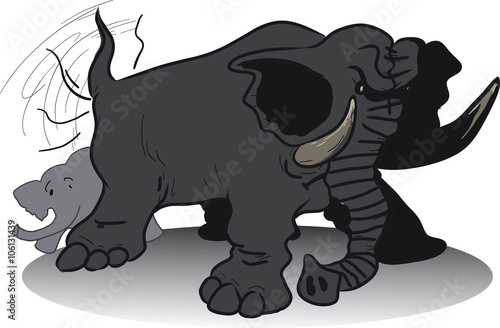 Elephant tail clipart
