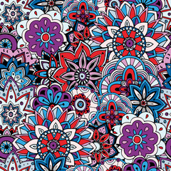 Printed kitchen splashbacks Moroccan Tiles Seamless pattern texture. Indian, arabic, turkish style elements