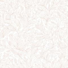 Seamless Pattern. Paisley Flowers Design Elements